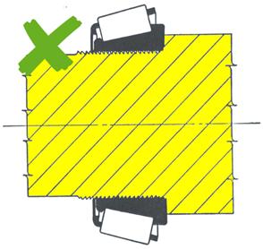 El moleteado o estriado no soporta carga
